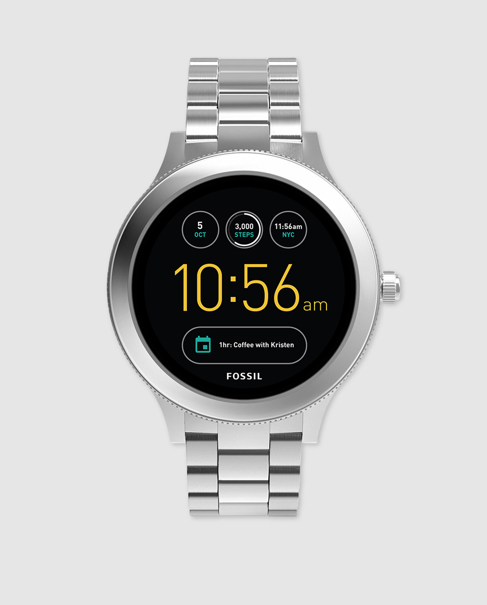 2e6a3185cbc Reloj Smartwatch con caja de acero inoxidable, full display (pantalla  completa). Brazalete de acero inoxidable 3 link de 18 mm., desplegable con  dos ...