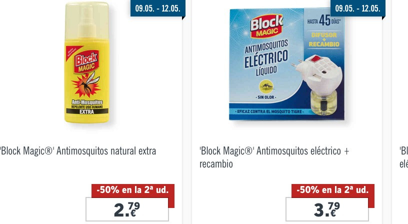 Productos anti-mosquitos