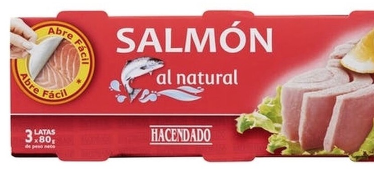 Salmón enlatado al natural