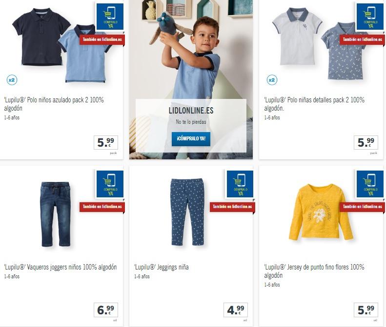 807acb72b Se trata de artículos que Lidl ofrece con descuentos en moda infantil a un  menor precio que quizá en otras superficies. Además el catálogo es muy  variado