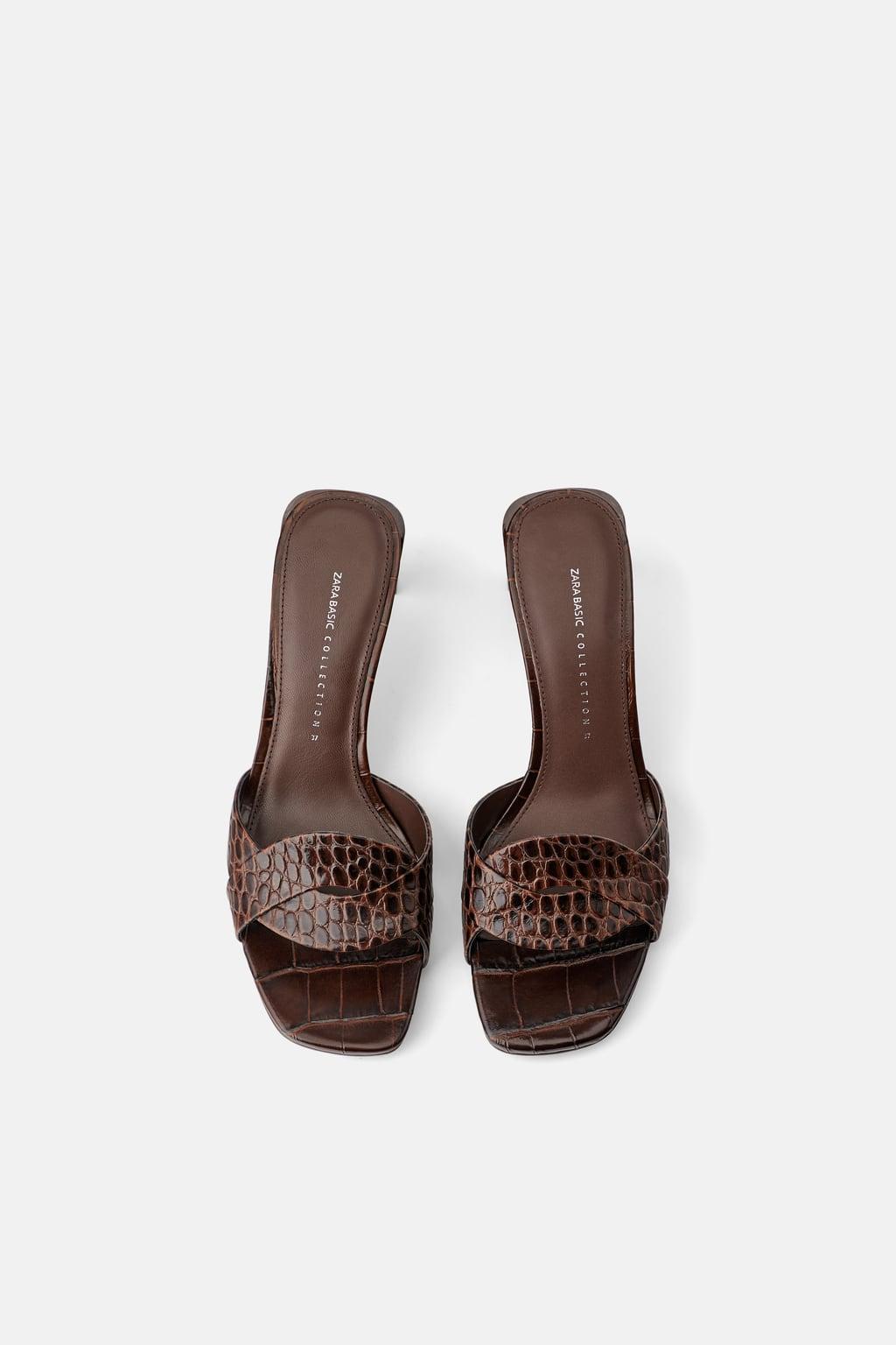 211f07e937a6cc Estas sandalias de Zara van a ser toda una novedad en esta próxima  primavera. Se trata de un modelo de tacón de piel de color marrón, que  cuentan con ...