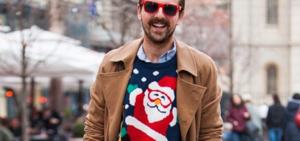Street style con ugly sweater